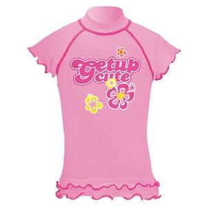 getup cute(ゲットアップ キュート) ラッシュガード/フレンチ袖 Kid's 120cm ピンク