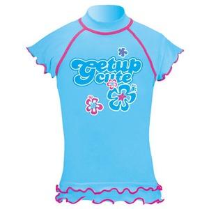 getup cute(ゲットアップ キュート) ラッシュガード/フレンチ袖 Kid's 120cm ライトブルー