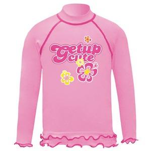 getup cute(ゲットアップ キュート) ラッシュガード/長袖 Kid's 100cm ピンク