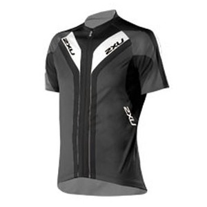 2XU(ツー・タイムズ・ユー) Elite Sublimated Cycle Jersey Men's M Black×Pigeon