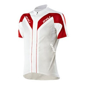 2XU(ツー・タイムズ・ユー) Elite Sublimated Cycle Jersey Men's L White×Ginger Red
