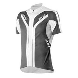 2XU(ツー・タイムズ・ユー) Elite Sublimated Cycle Jersey Men's XXL White×Pigeon