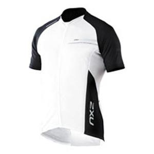 2XU(ツー・タイムズ・ユー) Comp Cycle Jersey Men's M White×Grey
