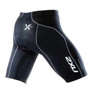 2XU(ツー・タイムズ・ユー) Endurance Cycle Short Men's L Black×Black