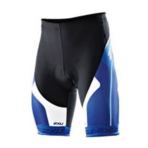 2XU(ツー・タイムズ・ユー) Sublimated Cycle Short Men's XS Black×Royal Blue