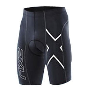 2XU(ツー・タイムズ・ユー) Compression Cycle Shorts Men's XXL Black×Black