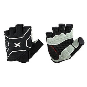 2XU(ツー・タイムズ・ユー) Elite Cycle Gloves Men's L Black×Black
