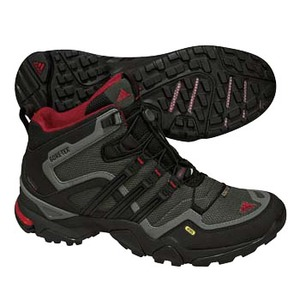 adidas(アディダス) TERREX FAST X FM MID GTX 25.0cm ダークシンダーF09×ブラック×リアルレッドS10