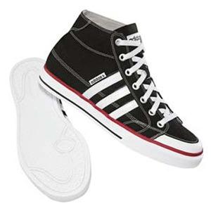 adidas(アディダス) クレメンテSTR HI 25.5cm ブラック×ランニングホワイト×シンプルF10