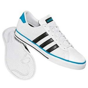 adidas(アディダス) デイリーバルカ Men's 25.5cm ランニングホワイト×ブラック×ターコイズ