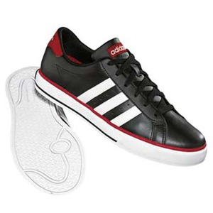 adidas(アディダス) デイリーバルカ 26.5cm ブラック×ランニングホワイト×カレッジレッド