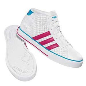adidas(アディダス) デイリーバルカ Mid Women's 24.5cm ランニングW×レイディアントピンク×ターコイズ