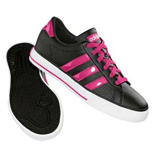 adidas(アディダス) デイリーバルカ Women's 23.5cm BK×レイディアントピンク×ランニングホワイト