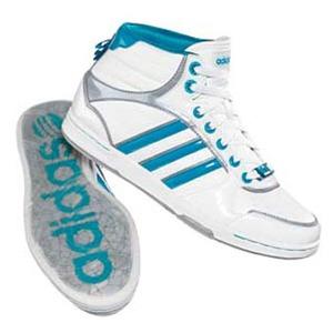 adidas(アディダス) スリムコート ICE MID Women's 23.5cm ランニングホワイト×ターコイズ×メタリックシルバー