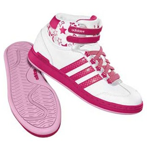 adidas(アディダス) WJ Mid Kid's 23.0cm ランニングW×レイディアントピンク×ワンダーピンク