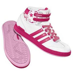 adidas(アディダス) WJ Mid Kid's 24.5cm ランニングW×レイディアントピンク×ワンダーピンク