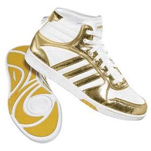 adidas(アディダス) スリムコート MET MID Women's 23.5cm ランニングW×メタリックGD×ランニングホワイト