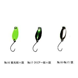 Aniデザイン(オフィス・ユーカリ) 心 1.2g No.17 クリアー緑×銀
