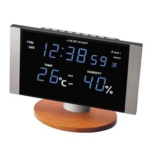 ADESSO(アデッソ) LED温湿度電波クロック C8305BL
