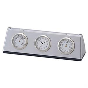 ADESSO(アデッソ) 温湿度計クロック TC-305 シルバー