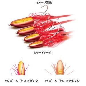 DAMIKI JAPAN(ダミキジャパン) まうすテンヤ 14g #04 ゴールドホロ×オレンジ