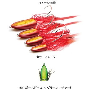 DAMIKI JAPAN(ダミキジャパン) まうすテンヤ 30g #09 ゴールドホロ×グリーン・チャート