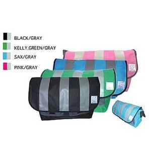 GRQ(ジーアールキュー) メッセンジャーバッグ ストライプ LEAGE BLACK/GRAY