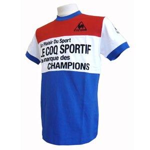 le coq sportif(ルコック) 半袖シャツ L SBL(セーヌブルー/ブラッド)