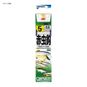 オーナー針 赤虫釣 (糸付) 3号-0.6 金 20021