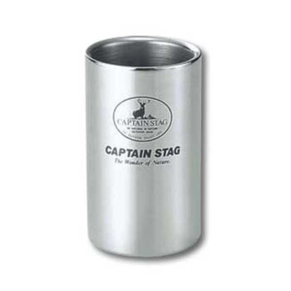 キャプテンスタッグ(CAPTAIN STAG) 18-8 Wステンカップ220ml M-9681 ゆのみ&タンブラー