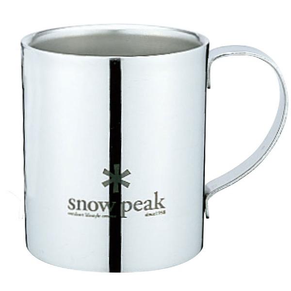 スノーピーク(snow peak) スノーピークロゴダブルマグ240 MG-112 ステンレス製マグカップ