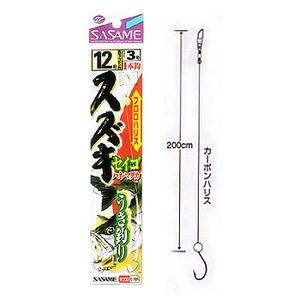 ささめ針(SASAME) スズキ・セイゴうき釣(ケン付丸セイゴ) 鈎12/ハリス3 金 E-701