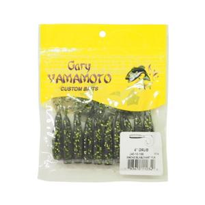 ゲーリーヤマモト(Gary YAMAMOTO) シングルテールグラブ 4インチ 166 スモーク/ブラック/チャートフレーク