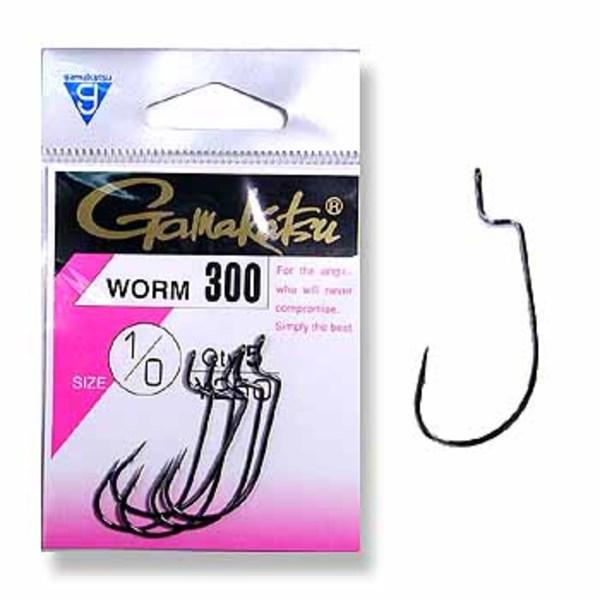がまかつ(Gamakatsu) WORM 300(5本入り) 66117 ワームフック(オフセット)