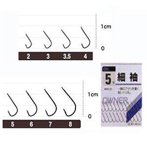 オーナー針 茶 細袖(糸付) 3号-0.3 20281