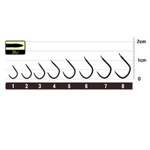 オーナー針 OHヘラ鮒スレ(糸付) 20572 へら用品