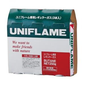 ユニフレーム(UNIFLAME) ガスカートリッジ(3本) 650028 カセットボンベ