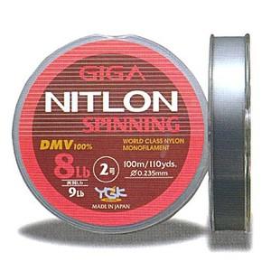 YGKよつあみ ギガ ニトロン スピニング 100m ブラックバス用ナイロンライン