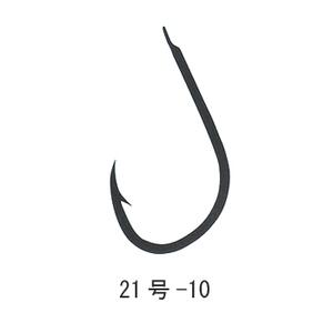 がまかつ(Gamakatsu) ソイ鈎 糸付1m 21号-10 銀 11259
