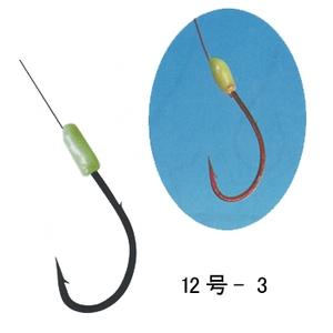 がまかつ(Gamakatsu) アイナメ鈎 糸付 12号-3 赤 11311
