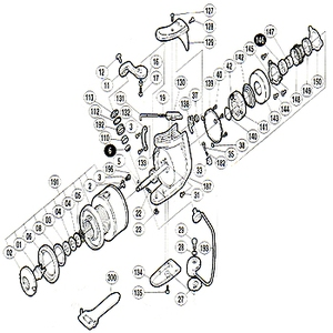【クリックで詳細表示】シマノ(SHIMANO)パーツ:97 BB-X 5000EV アームローラー用ベアリング No6