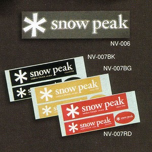 スノーピーク(snow peak) スノーピークステッカー 角型
