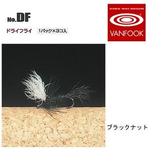 ヴァンフック(VANFOOK) ドライフライ #16 ブラックナット DF-1602