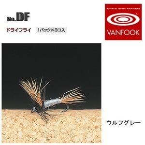 ヴァンフック(VANFOOK) ドライフライ #16 ウルフグレー DF-1604