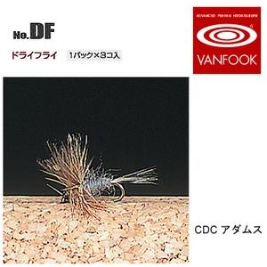 ヴァンフック(VANFOOK) ドライフライ #18 CDCアダムス DF-1801
