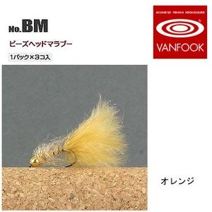 ヴァンフック(VANFOOK) ビーズヘッドマラブー #12 オレンジ BM-1204