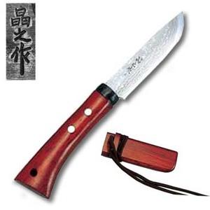 【送料無料】昌之 晶之作 ダマスカス狩猟鉈 22.5cm 00540019