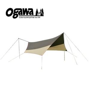 【送料無料】小川キャンパル(OGAWA CAMPAL) システムタープヘキサDX ブラウンxサンドxレッド 3331