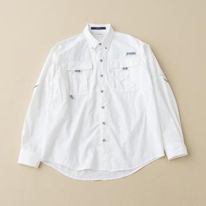 Columbia(コロンビア) バハマIIロングスリーブシャツ M 100(White)