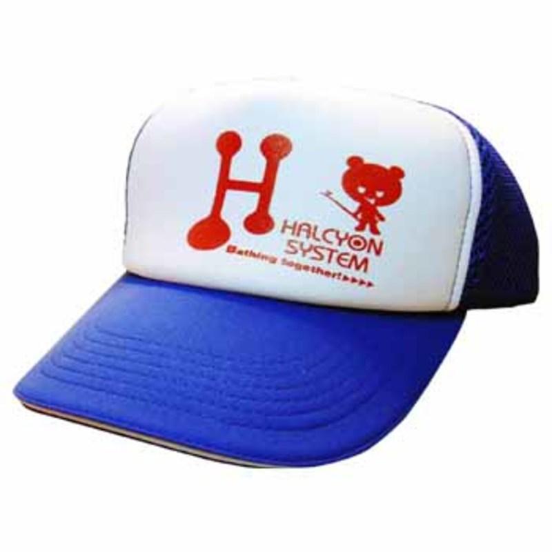 ハルシオンシステム アメリカンキャップ フリー ブルー×レッドロゴ